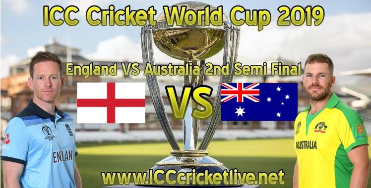 ICC Cricket World Cup 2019 Semi Final 2 Live Stream