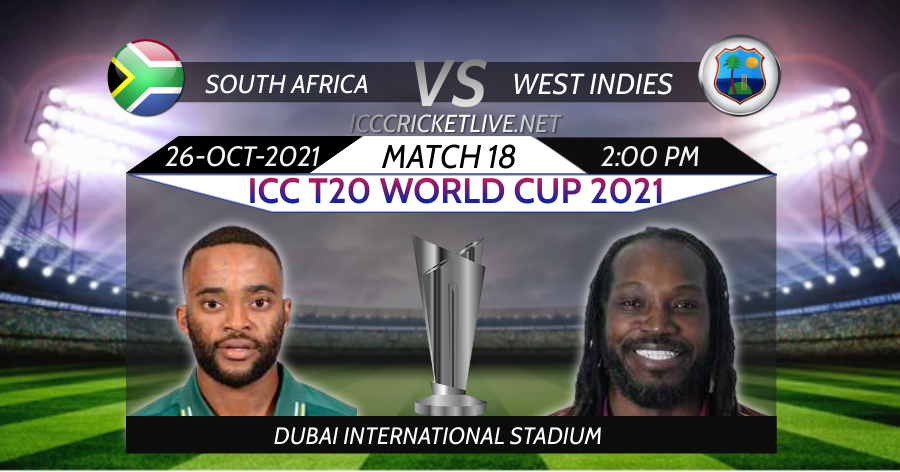 South Africa VS West Indies T20 WC Live Stream