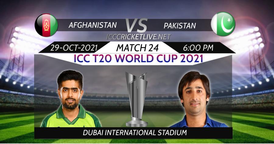 Pakistan VS Afghanistan T20 WC Live Stream