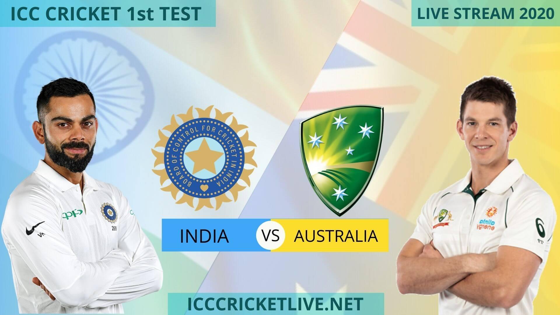 India Vs Australia Live Stream 2020 | 1st Test | Day 2